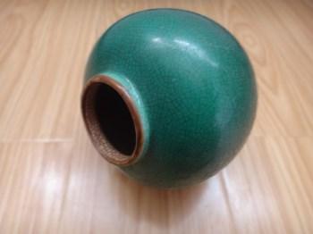 清绿哥釉小罐-收藏网