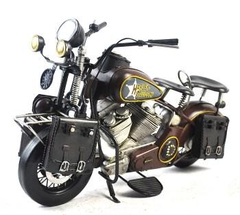 百年世界顶级摩托车:哈雷戴维森摩托车铁艺模型-收藏网