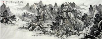 莫振书·小六尺山水-收藏网