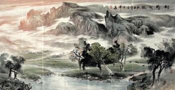 韦德坤·四尺写意山水-收藏网
