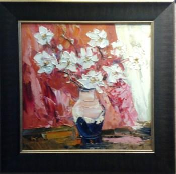 瓶花-红白,当代中国著名油画家王柏松-中国收藏网