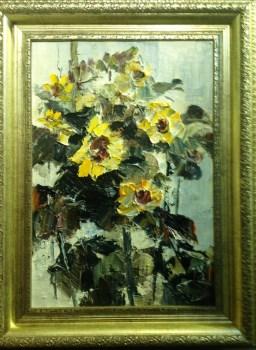 向日葵,当代中国著名油画家王柏松-收藏网