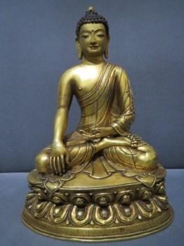 清代鎏金释迦摩尼佛 -收藏网