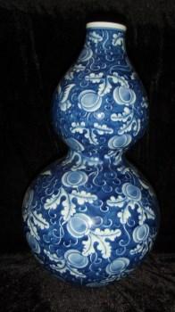 青花葫芦瓶 --收藏网
