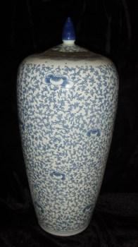 青花罐(里面装的是茶叶,还没打开呢,绝对是老瓶,老茶)-收藏网