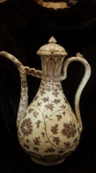 明代青花釉里红酒壶 -收藏网