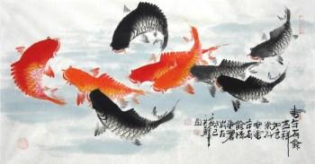 何奕勇·三尺九鱼图-收藏网