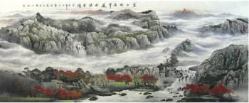 林伟斌·巨幅大丈二山水国画-收藏网