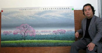 张泉踪·六尺彩墨山水-收藏网