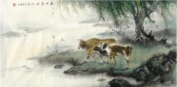 杜陈静·四尺工笔动物画-收藏网