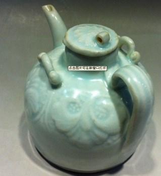 精品湖田窑茶壶釉色蓝头一流-收藏网