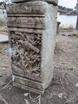 徽州石雕(徽州门坊残件)(双龙戏珠)-收藏网