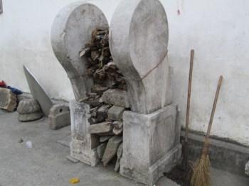 徽州石雕(边鼓,旗杆石)进士文化-收藏网