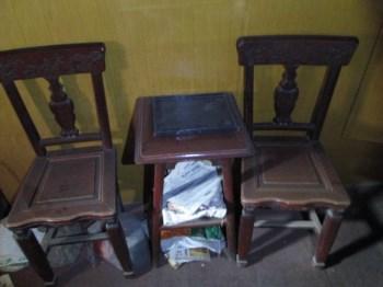 椅子,柏树,4张椅子,2个茶几!-收藏网