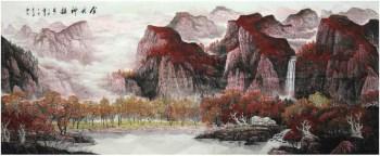 李新·巨幅大丈二精品山水-收藏网