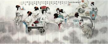 刘学多·小八尺国画人物-收藏网