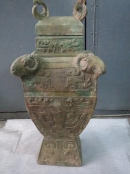 四羊青铜方尊-收藏网