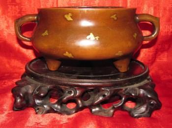 大明宣德年制款点金紫金铜宣德炉-收藏网