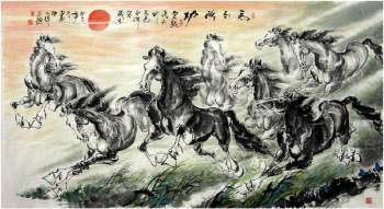 陈天祥·三尺八骏图-收藏网