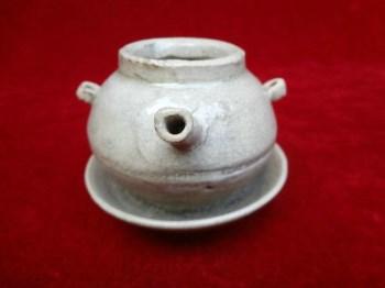 不多见的宋代特色老瓷器-开片青白瓷老灯盏,非常古朴精美,包真-收藏网