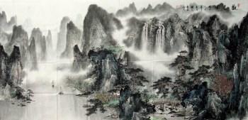 桂林美协理事唐润光·六尺精品山水-收藏网