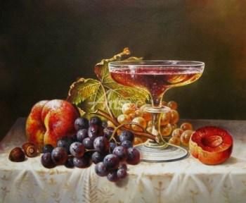 静物油画 水果油画 书房装饰油画-中国收藏网