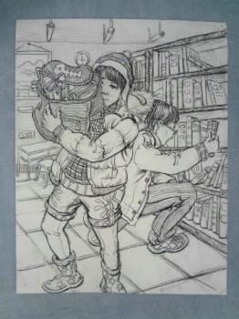 FWPy0-老人物带款素描原作一件,画功超好 -中国收藏网