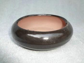 黑釉紫砂老水盂-收藏网
