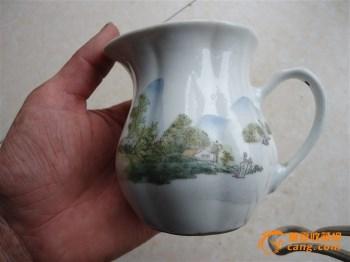 下乡收的来的民国时期浅绛彩咖啡杯 -收藏网