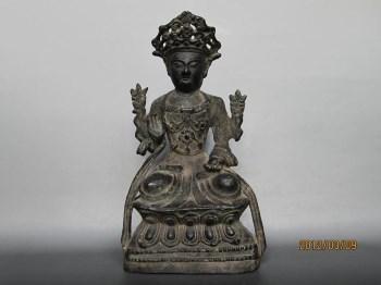 明 铜 观音菩萨佛像-收藏网