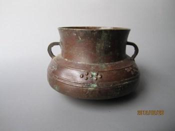 战国.齐     乳钉纹青铜釜(量器)-收藏网