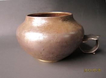 唐 素面单环柄银杯-收藏网