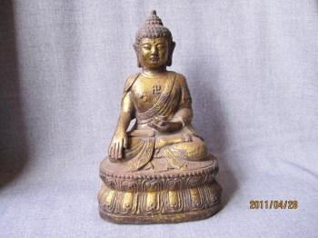 明中期 鎏金释迦牟尼铁佛-收藏网
