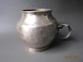 唐代 石榴尊形银杯-收藏网
