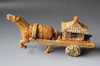 骨车马摆件 -中国收藏网