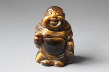 """虎睛石""""散财弥勒""""摆件 -收藏网"""
