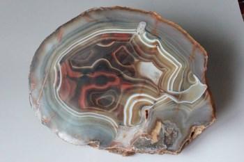 缠丝玛瑙原石插屏2 -收藏网