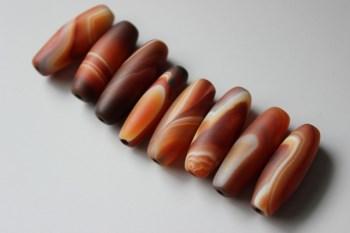 精美缠丝玛瑙纺锤珠3 -收藏网