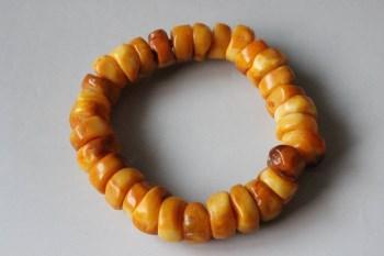蜜蜡扁珠手串 -收藏网