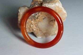 缠丝红玛瑙细条镯4  -收藏网