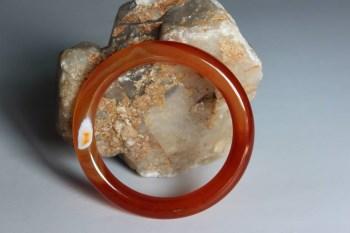 缠丝红玛瑙细条镯3-收藏网