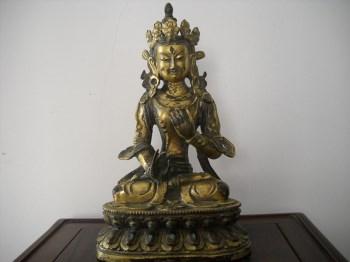 鎏金铜佛-中国收藏网