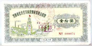 股票.万县市社会主义建设集资委员会股票10元[58年]-中国收藏网
