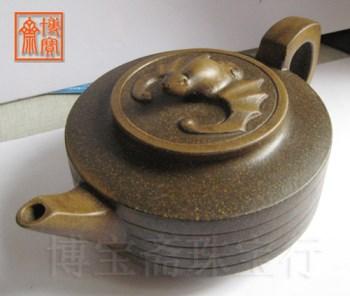 茶叶末紫砂壶-收藏网