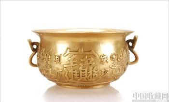 纯铜精工聚宝盆摆件招财进宝镇宅-中国收藏网