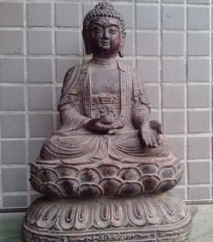 一尊铁佛像-中国收藏网