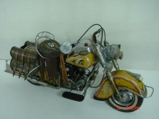 印第安酋长摩托车超大车铁艺模型-中国收藏网