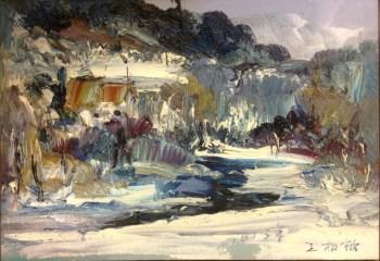 村头,当代著名油画家王柏松-中国收藏网