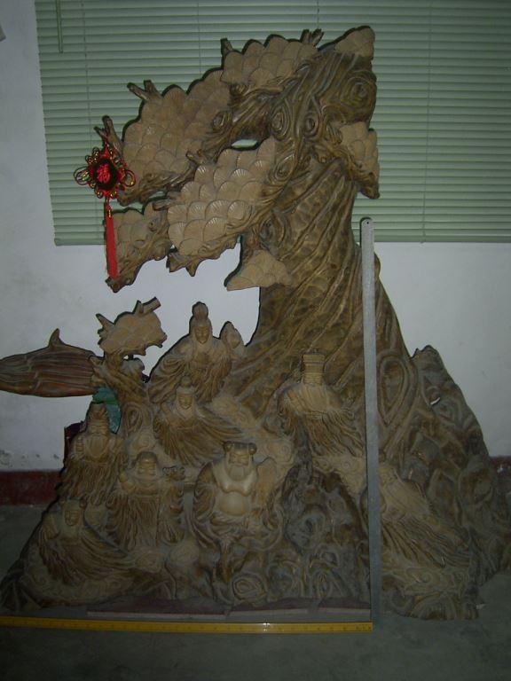 红豆杉大型根雕 八仙过海