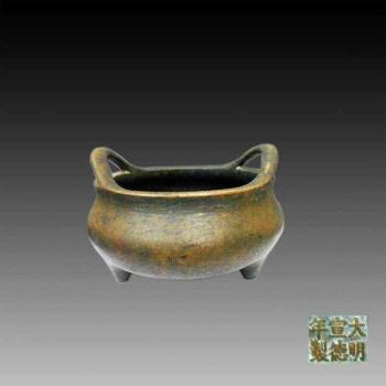 家藏国宝―明·宣德三年(峰摩铜)特制:桥耳乳足铜香炉-收藏网